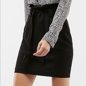 Express High Waisted Soft Crepe Sash Tie Skirt